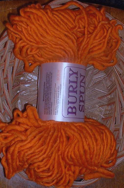 burly spun orange u glad
