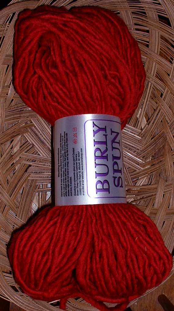 burly spun ruby red